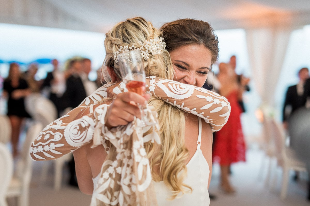 Soirée lors du mariage à Antibes à l'hôtel Belles Rives.