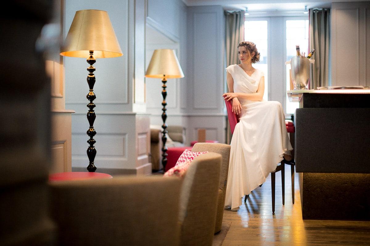 Shooting éditorial à l'Hôtel Mont Blanc Chamonix par le photographe de mariage Sylvain Bouzat.