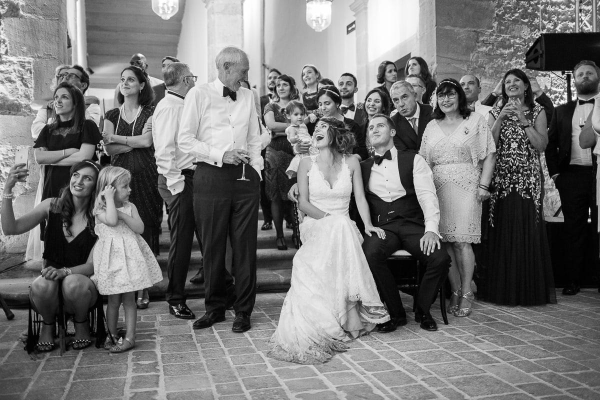 La soirée lors du mariage au Château de Bagnols sur le thème Gatsby.