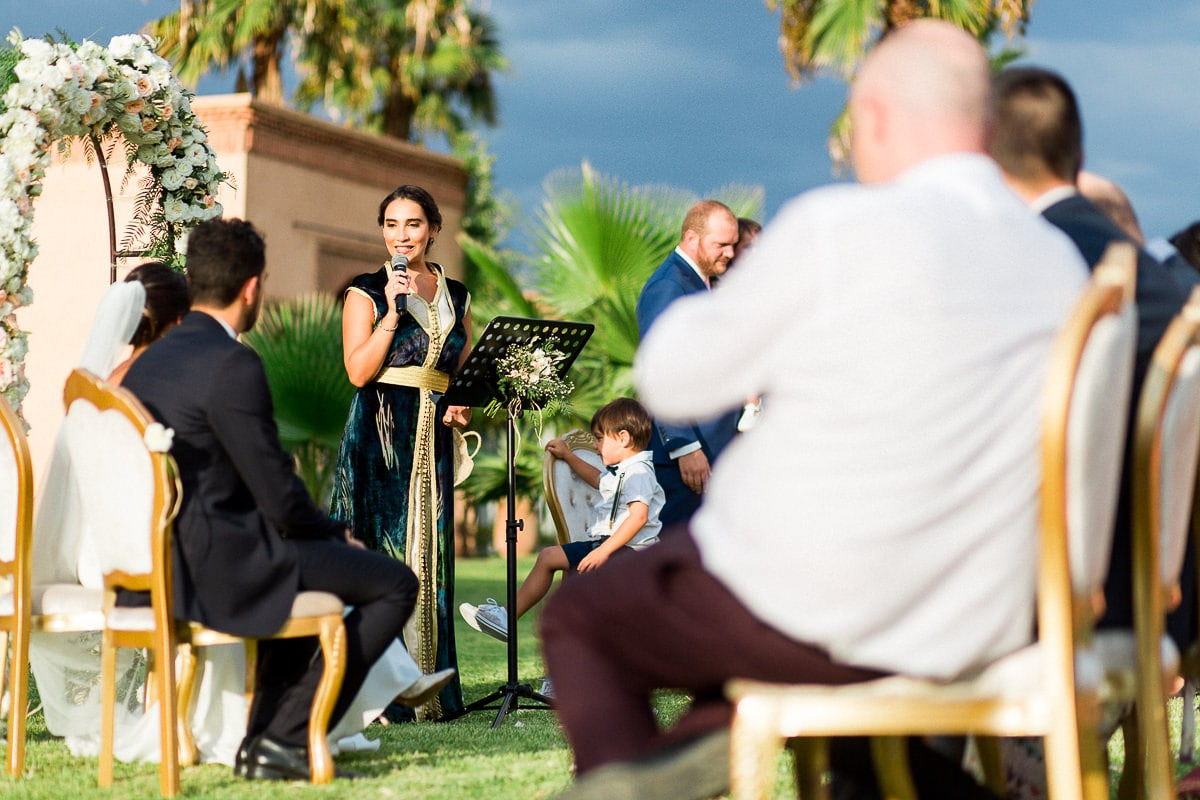Ceremony during a wedding in Marrakech by the photographer Sylvain Bouzat.