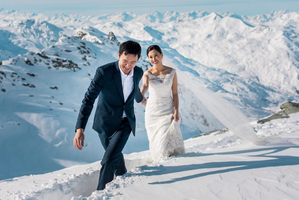 Photographe mariage Alpes, Alps wedding photographer Sylvain Bouzat Val Thorens