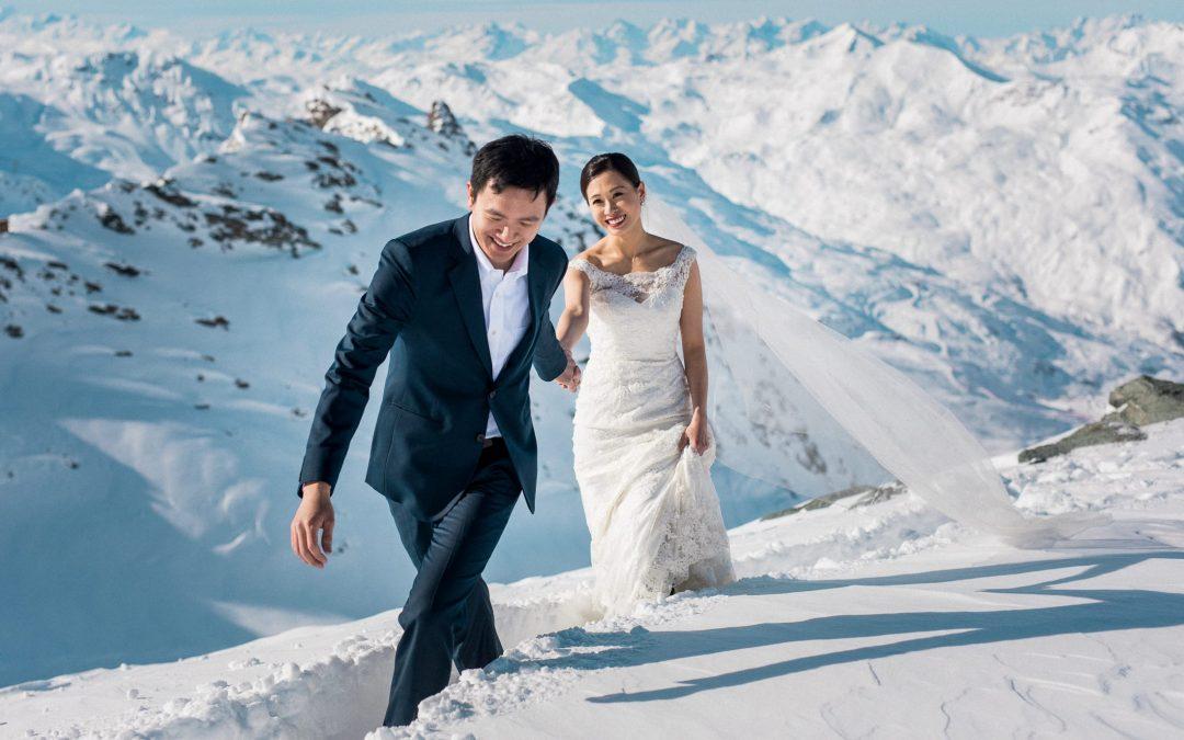 Photos de couple à la montagne