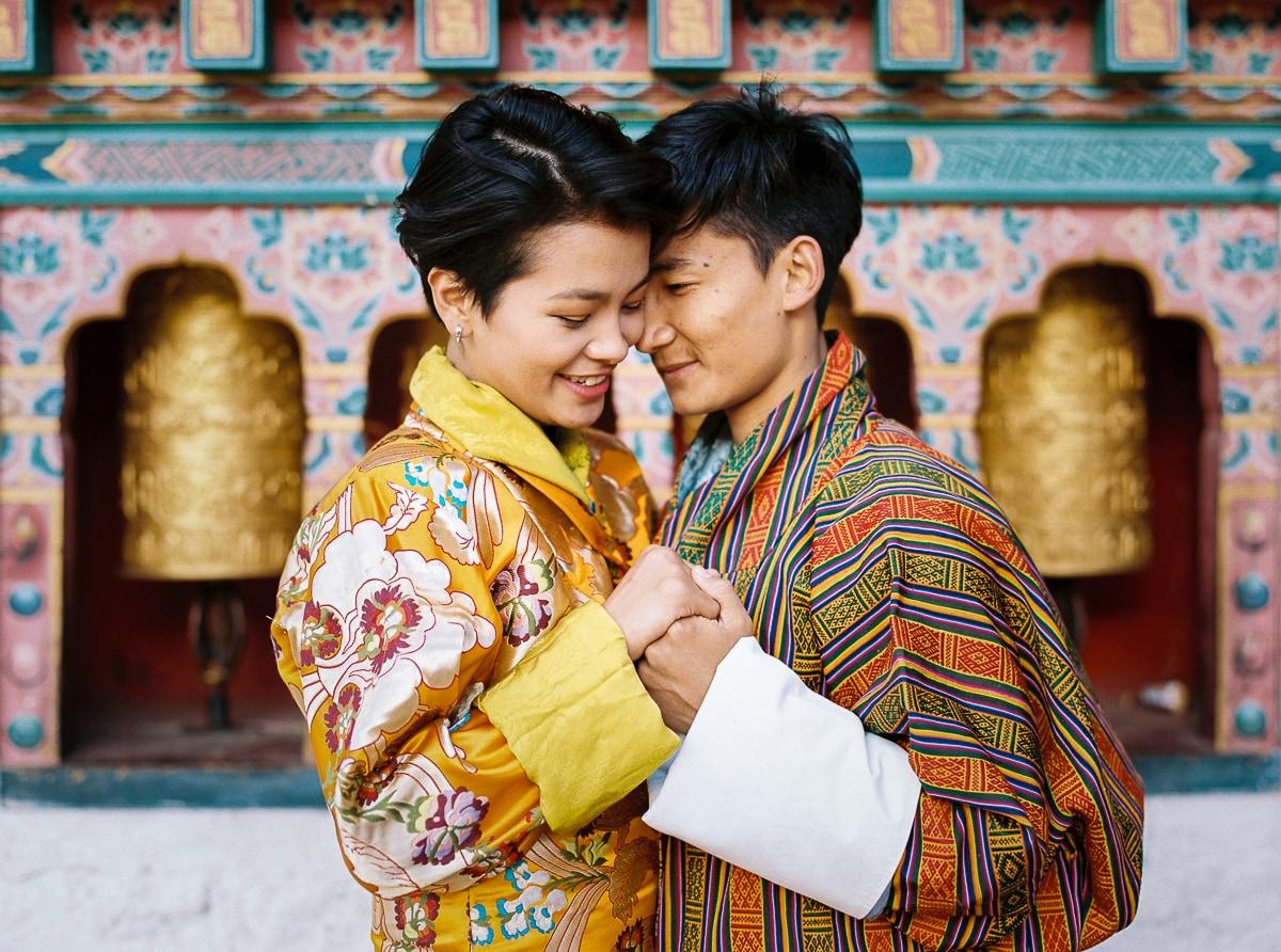 Wedding photographer abroad Sylvain Bouzat in Bhutan.