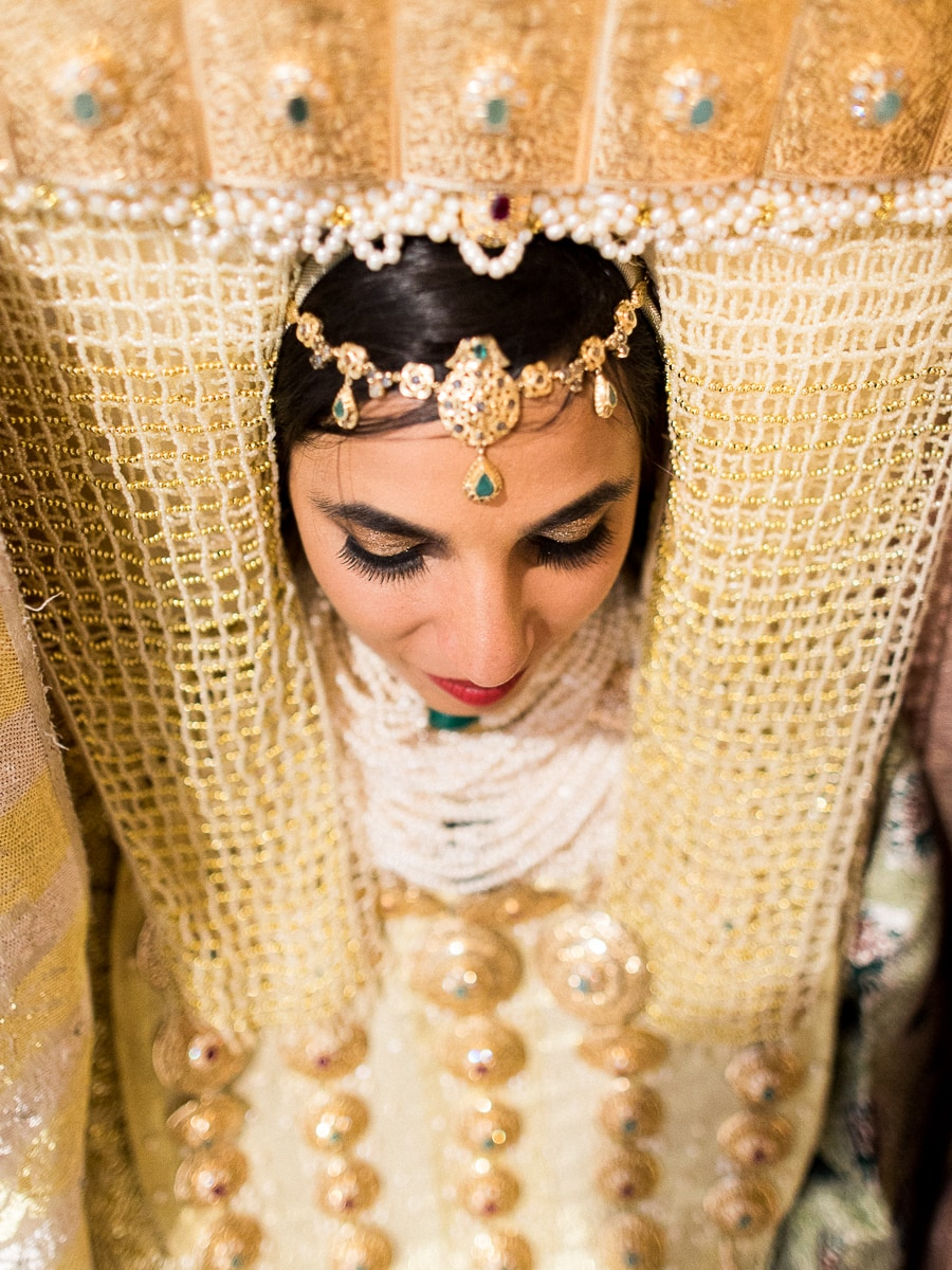 A very beautiful Moroccan bride during a traditional wedding.