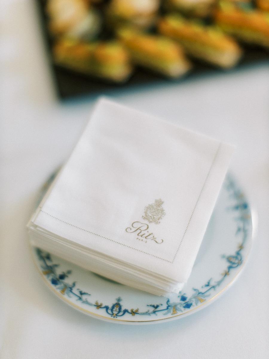 Détail culinaire au Ritz Paris.