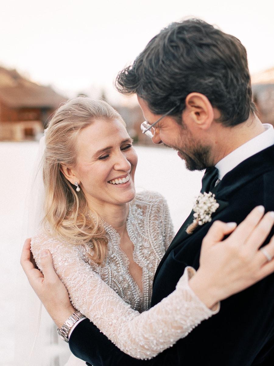 Un photographe mariage Megève dans les Alpes Sylvain Bouzat.